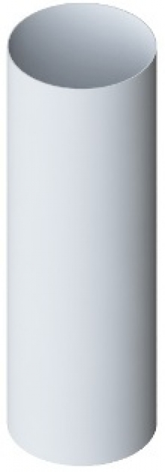 Труба водосточная ПВХ, цвет белый, длина 3 м, диаметр 95 мм