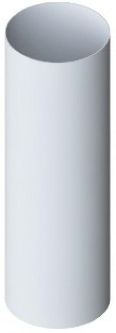 Труба водосточная ПВХ, цвет белый, длина 4 м, диаметр 95 мм