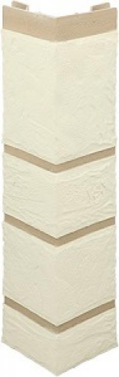 Наружный угол камень (белый), 0,47 х 0,11м