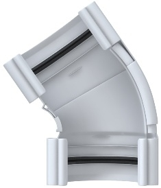Угол жёлоба 120-145° ПВХ, цвет Белый