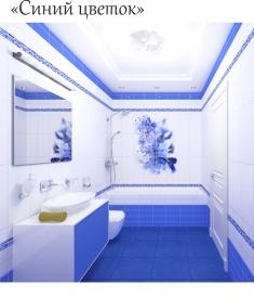 """Стеновые панели """"PANDA"""" Синий цветок арт. 01310"""